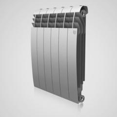 Радиатор биметаллический Royal Thermo Biliner Silver Satin (серебристый)  - 6 секций
