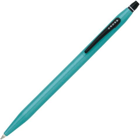 Ручка-роллер Cross Click без колпачка с тонким стержнем. Цвет - зеленовато-голубой