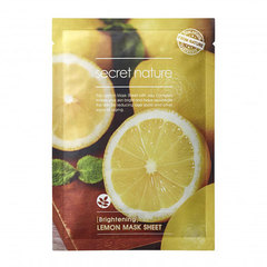 Secret Nature Lemon Mask Sheet - Маска придающая сияние коже с лимоном