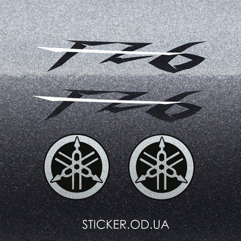 Набор виниловых наклеек на мотоцикл YAMAHA FZ6  2007