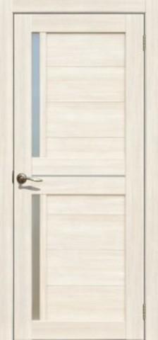 Дверь La Stella 202, стекло матовое, цвет ясень снежный, остекленная
