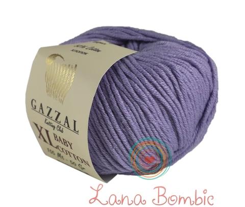 Пряжа Gazzal Baby Cotton XL пыльная сирень 3420