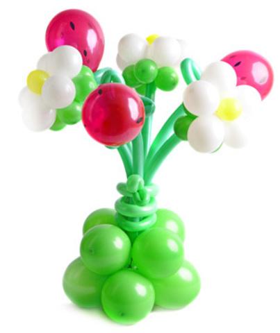 Букет цветов из шаров Земляника