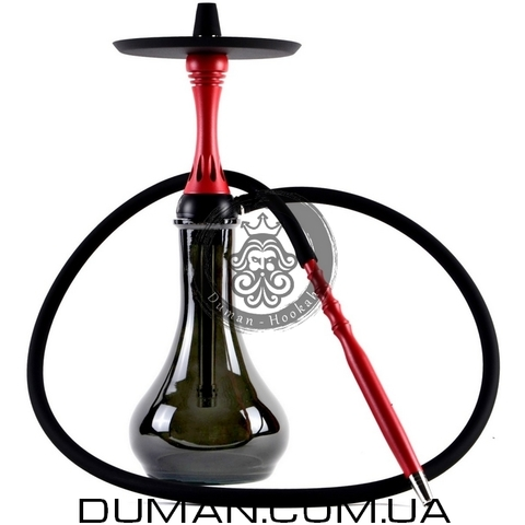 Кальян Alpha Hookah Model X | Drop Gray Red Matte