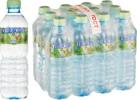 Вода минеральная Сенежская негазированная, 0,5 л, 12 шт./уп