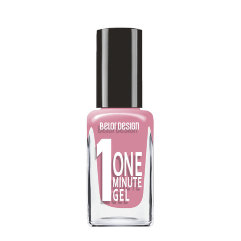 BelorDesign One Minute Gel Лак для ногтей тон 215 лиловый нюд 10мл