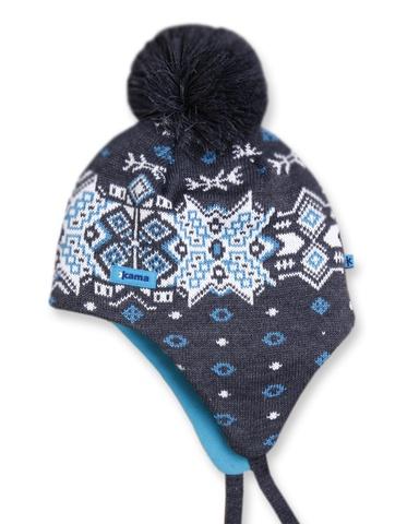 шапка-ушанка Kama A66 Graphite
