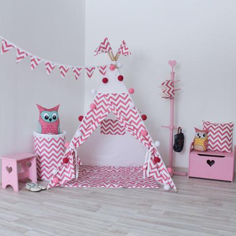 Подушка Pink Zigzag розовые зигзаги