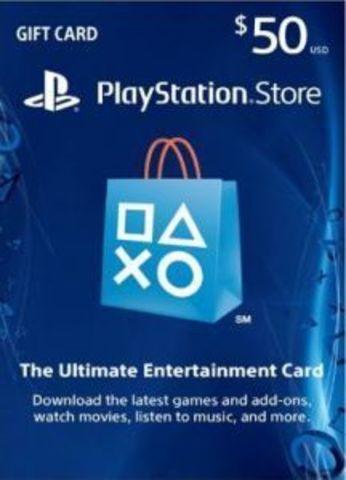 Карта оплаты PlayStation Network Card USA 50$ (цифровая версия)