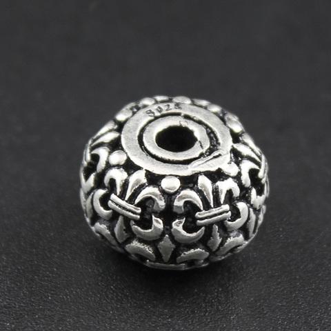 Бусина Флер де Лис 13,8х8,8 мм серебро 925