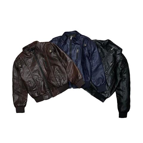 Куртка экокожа мальчику (5-12) 180918-011