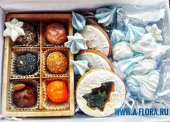 Набор из 6-ти сырных конфет с медовыми печеньями