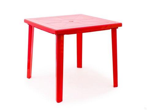 Стол квадратный. Цвет: Красный