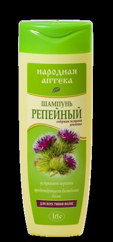 Iris Народная аптека Шампунь Репейный для всех типов волос 400мл