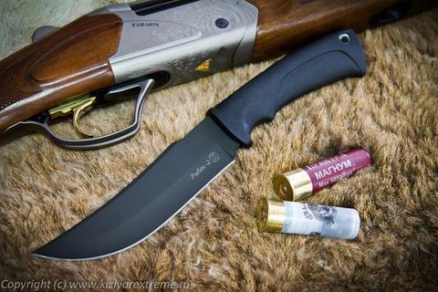 Туристический нож Рыбак-2 Черный Эластрон