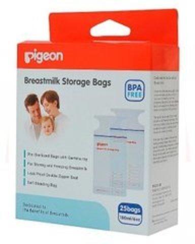 Пакеты Pigeon для заморозки и хранения грудного молока 180 мл 25 шт