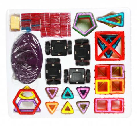 Большой магнитный конструктор 198 деталей 6