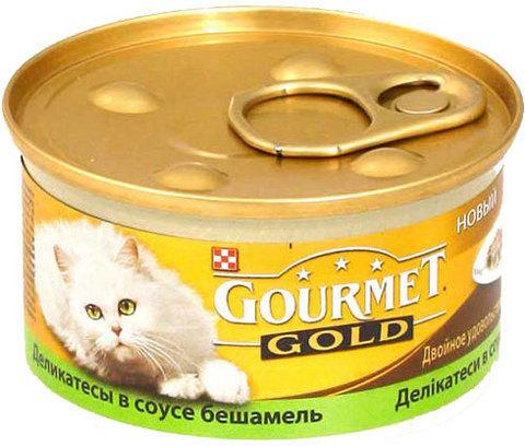 Gourmet Деликатесы в соусе бешамель c кроликом и печенью (gourmet Gold Meat Meli-melo in a Bechamel Sauce) 85 г
