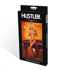 Сексуальные женские чулки в крупную сетку с тонкой резинкой