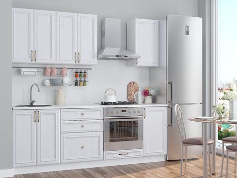 Кухня Шале-1 белый, milk oak