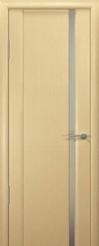 Дверь Океан Шторм-1, стекло белое, цвет беленый дуб, остекленная