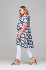 Рубашка Фрида c крупными цветами