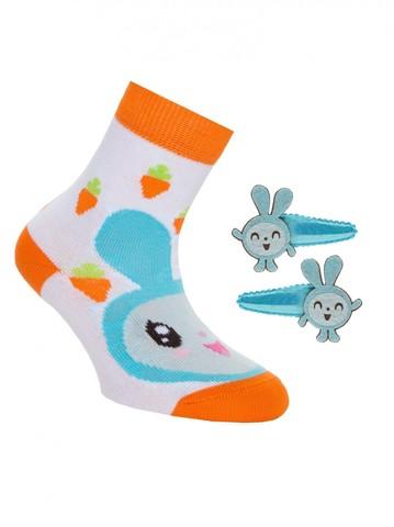 Детские носки Малышарики 17С-26СП (с заколками для волос) рис. 263 Conte Kids