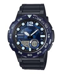 Мужские электронные японские наручные часы Casio AEQ-100W-2AVDF