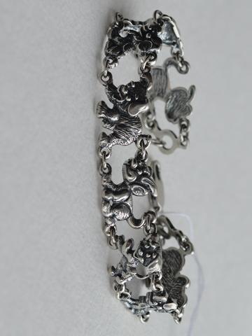 Щенок (серебряный браслет)