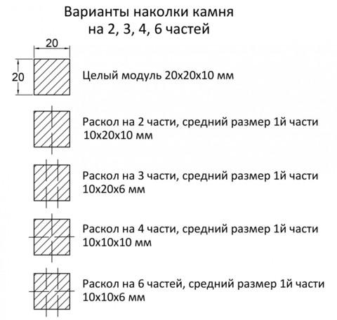 МИКС Натуральный камень
