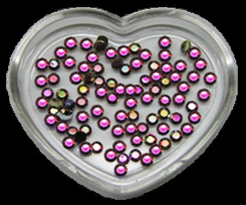 ЭК Стразы акриловые 200шт/74   SS7-голография красный,круглый