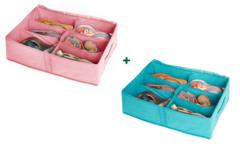 два любых кофра для обуви на 6 пар в расцветке minimalistic