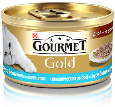 Gourmet Океаническая рыба и шпинат в соусе бешамель Gourmet Gold 85 г