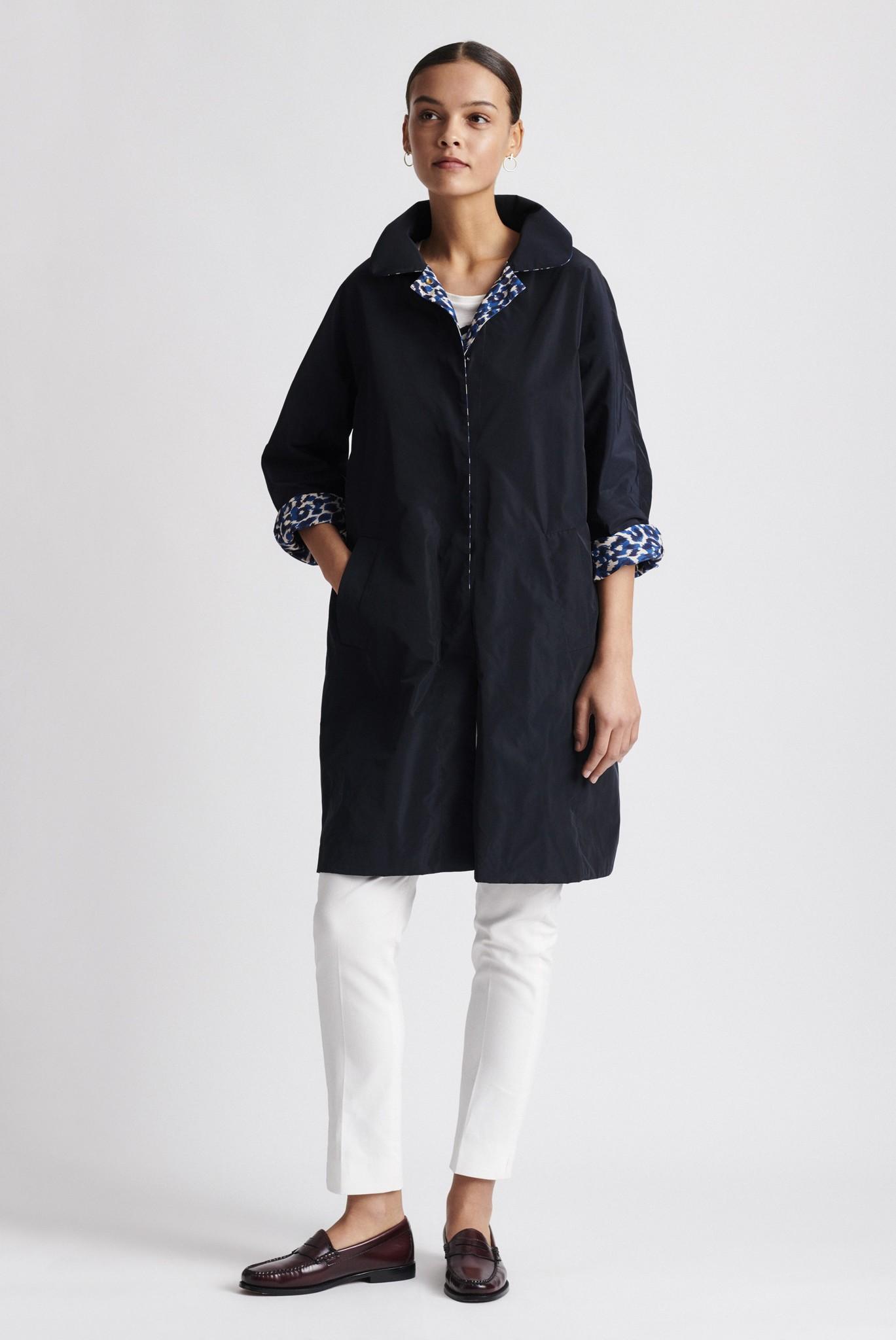 DELINA - двустороннее пальто с принтом