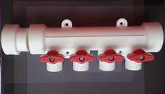 Коллектор полипропиленовый 40 х 20 3 вых. под сварку (пара)