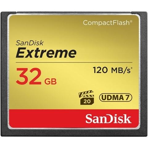 Карта памяти SanDisk CF Extreme 32 Gb 120 Mb/s