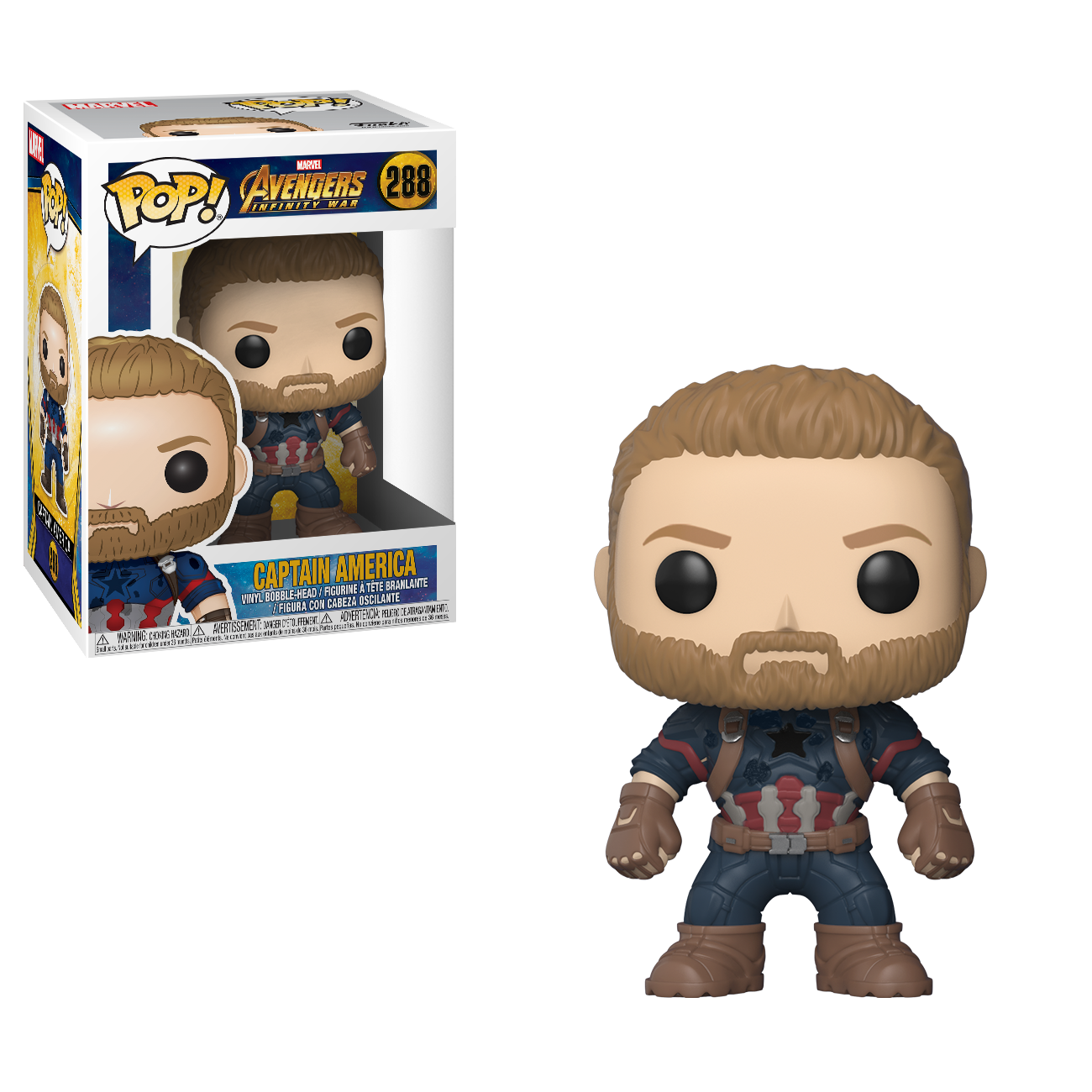 Фигурка Funko POP! Bobble: Marvel: Avengers Infinity War: Captain America 26466