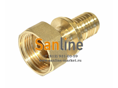 """Штуцер 16x1/2"""" Sanline Lite с накидной гайкой (Латунь)"""