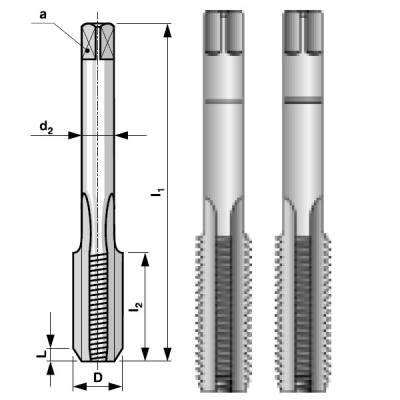 Набор метчиков из 2-х шт M6 шаг 1.0мм Bucovice Tools 110060