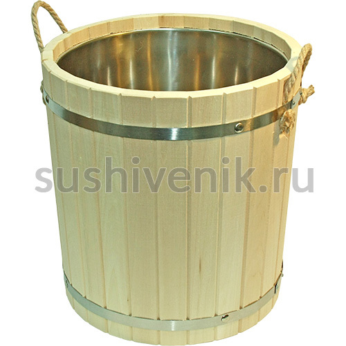 Запарник с вставкой из нержавеющей стали , 15 л (липа)