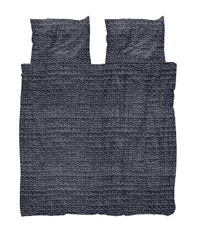 Комплект постельного белья Косичка угольно-черный 200x220см, Snurk