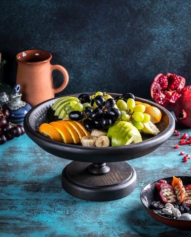 Круглая тарелка 30см на подставке