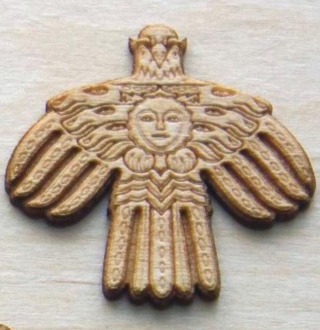Магнит на холодильник из дерева Герб Республики Коми (малый)