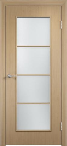Дверь Верда C-8, цвет беленый дуб, остекленная