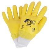 Перчатки трикотажные с облегченным нитриловым покрытием, манжета, обливные (Nitras)