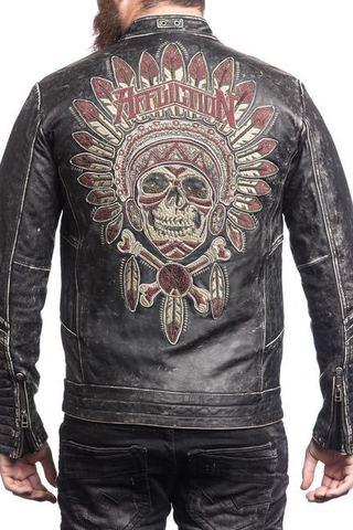 Куртка кожаная Affliction Renegade riders