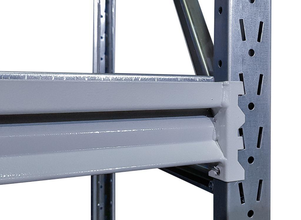 Металлический стеллаж усиленный (глубина 700, высота 2000 мм)