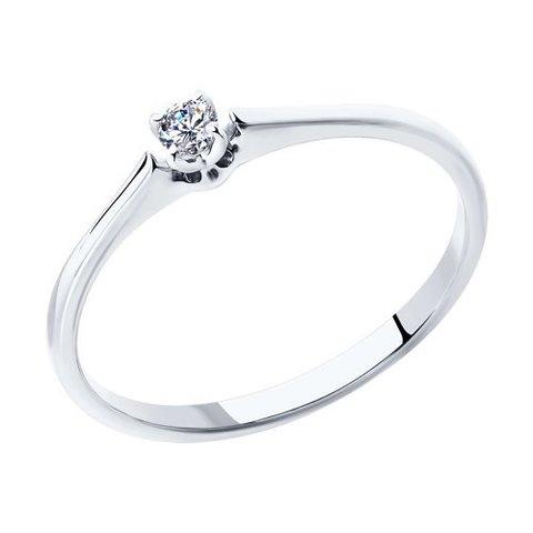 1011355 - Помолвочное кольцо из белого золота с бриллиантом