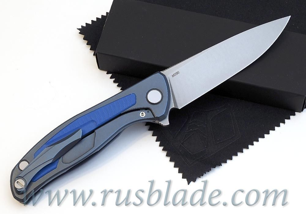 Shirogorov Flipper 95 M390 G10 Blue inlay