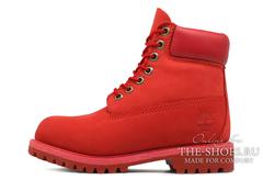 Женские Ботинки Timberland 10061 Waterproof Red (Осенние)